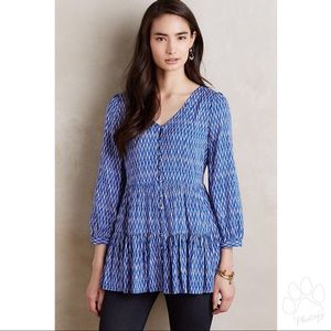 Anthropologie Maeve Lila Tiered Tunic with pockets